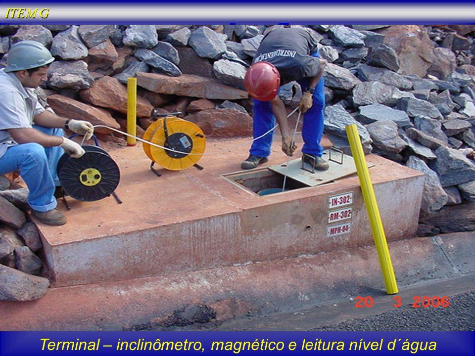 Terminal – inclinômetro, magnético e leitura nível d´água ITEM G