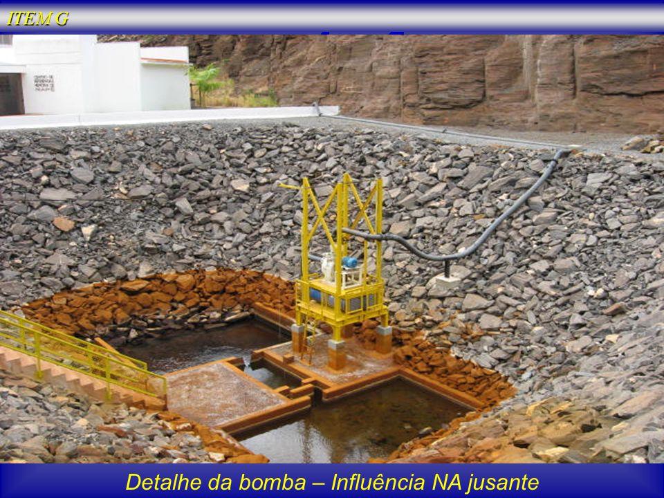 Detalhe da bomba – Influência NA jusante ITEM G