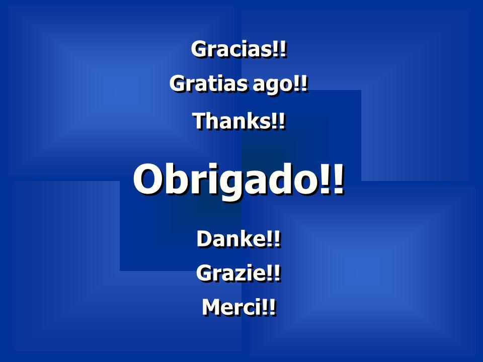 Obrigado!! Obrigado!! Thanks!! Gratias ago!! Gracias!! Grazie!! Danke!! Merci!!