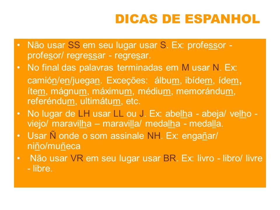 No espanhol somente temos o acento (´).Em espanhol não existem estes acentos (^), (~), (`).