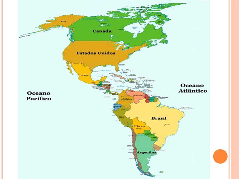 A partir do século XVI, a população nativa do continente americano miscigenou com a chegada dos europeus, asiáticos, esses grupos de acordo com sua cultura, desenvolvimento econômico sendo assim o continente foi regionalizado em América Anglo- Saxônica, America Latina essas regionalização leva em consideração aspectos econômica.
