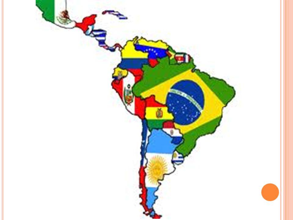 D ESENVOLVIMENTO DA A MÉRICA LATINA Os países da America Latina pertence aos países subdesenvolvidos, os quais produzem e exportam matéria prima, agopecuária, minérios e importam tecnologia e produtos industrializados.
