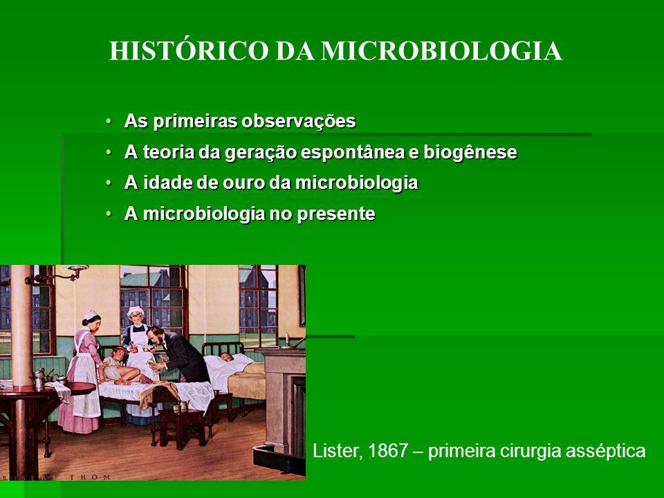 As primeiras observaçõesAs primeiras observações A teoria da geração espontânea e biogêneseA teoria da geração espontânea e biogênese A idade de ouro