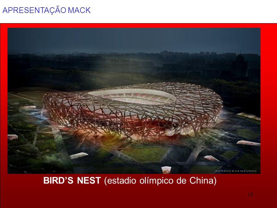 APRESENTAÇÃO MACK 18 BIRDS NEST (estadio olímpico de China)
