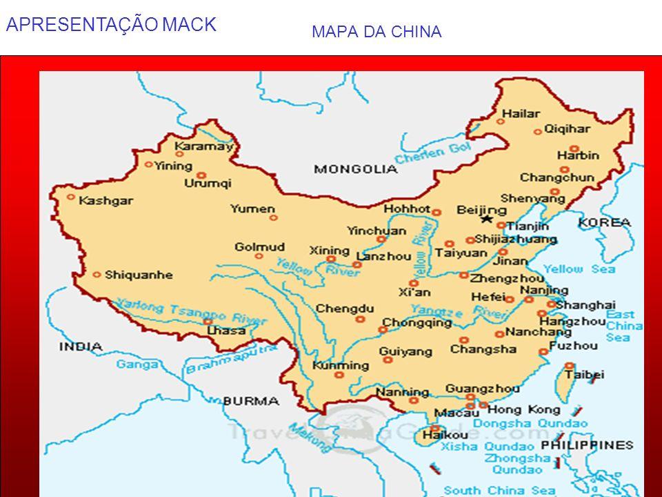 APRESENTAÇÃO MACK 4 GRANDE MURALHA DA CHINA GRANDE MURALHA Tem 8.000 km de extensão, da China até a Mongólia, e começou a ser erguida do século II a.C..
