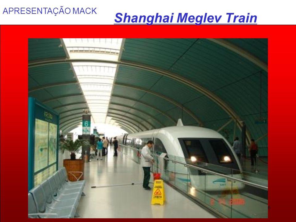 APRESENTAÇÃO MACK 36 Shanghai Meglev Train