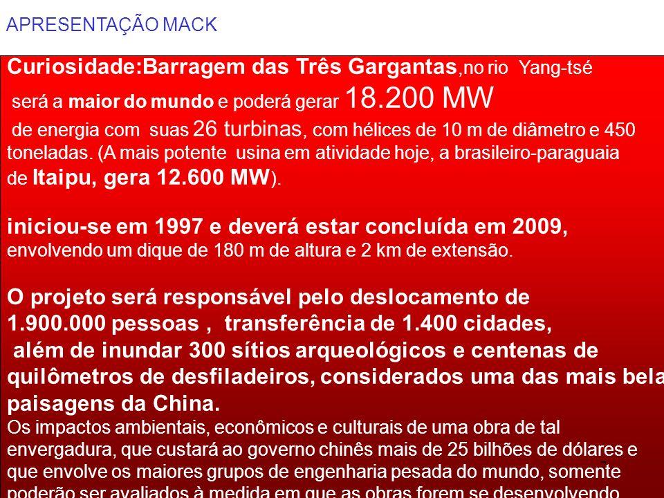 APRESENTAÇÃO MACK 58
