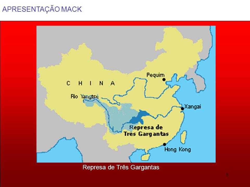 APRESENTAÇÃO MACK 29 Divisão Administrativa: 24 províncias, 5 regiões autônomas incluindo o Tibet, 3 municipalidades (Pequim, Xangai e Tianjin).