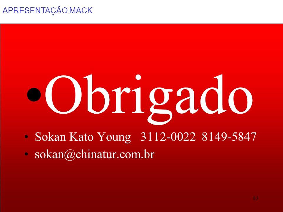 APRESENTAÇÃO MACK 83 Obrigado Sokan Kato Young 3112-0022 8149-5847 sokan@chinatur.com.br