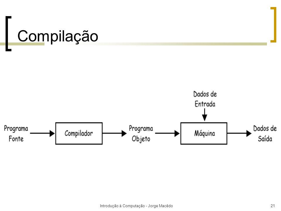 Introdução à Computação - Jorge Macêdo21 Compilação