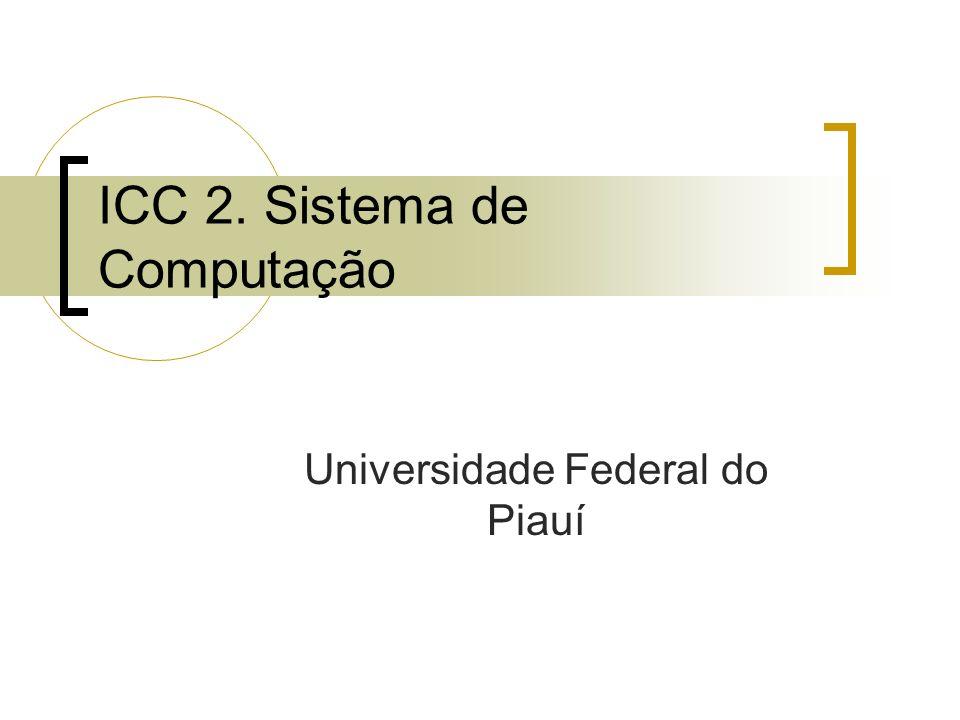 ICC 2. Sistema de Computação Universidade Federal do Piauí