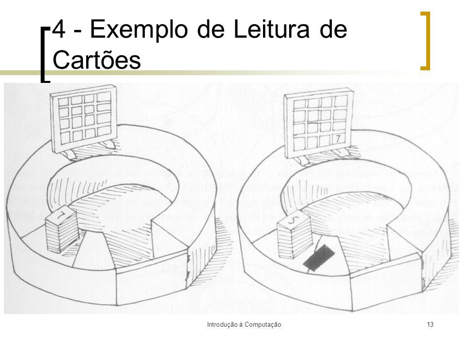 Introdução à Computação13 4 - Exemplo de Leitura de Cartões