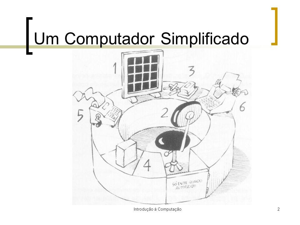 Introdução à Computação2 Um Computador Simplificado