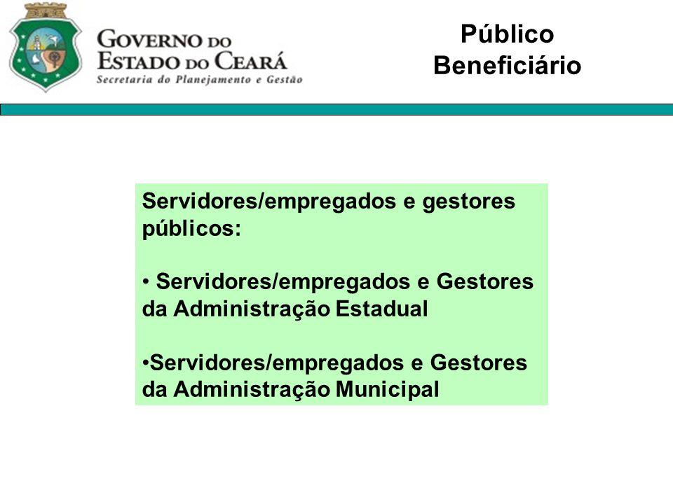 Servidores/empregados e gestores públicos: Servidores/empregados e Gestores da Administração Estadual Servidores/empregados e Gestores da Administraçã