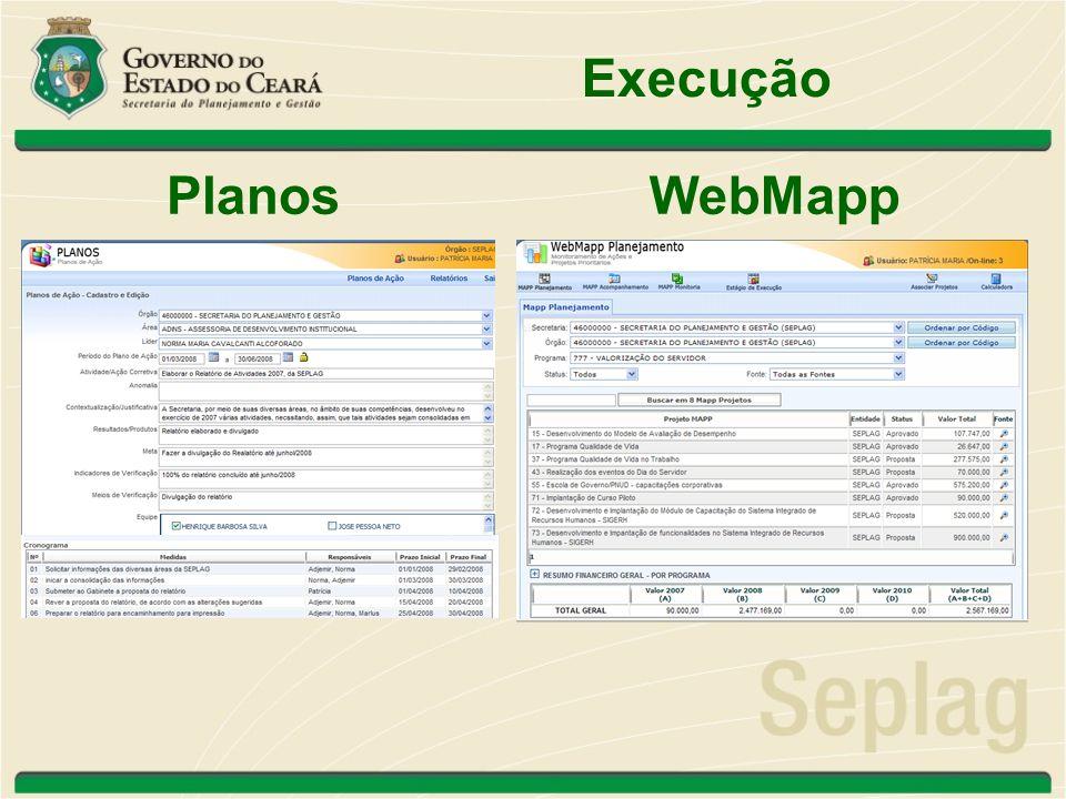 Execução PlanosWebMapp