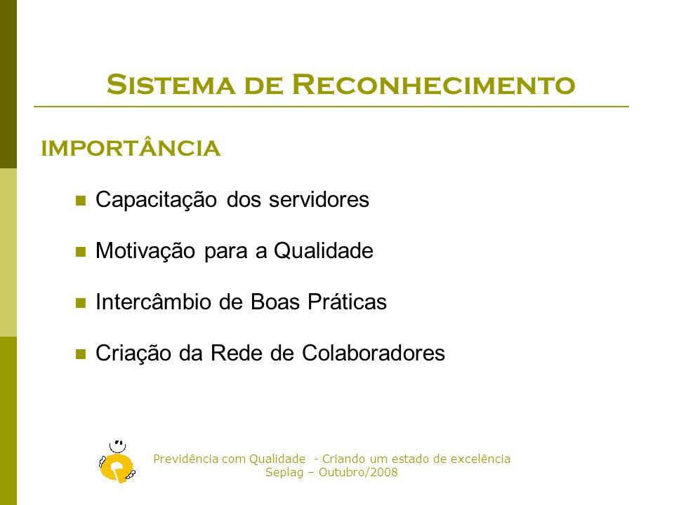 Previdência com Qualidade - Criando um estado de excelência Seplag – Outubro/2008 Critérios para o Selo Previdência com Qualidade para as setoriais 1.