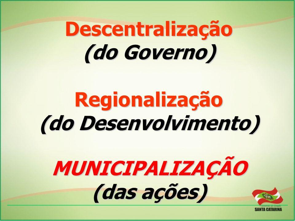 ______________________________________________________________ Por que a responsabilidade do desenvolvimento (econômico e social) não cabe exclusivamente ao Governo; Para valorizar e construir parcerias com a sociedade civil, que possui um papel estratégico fundamental.DESCENTRALIZAÇÃO Por que.
