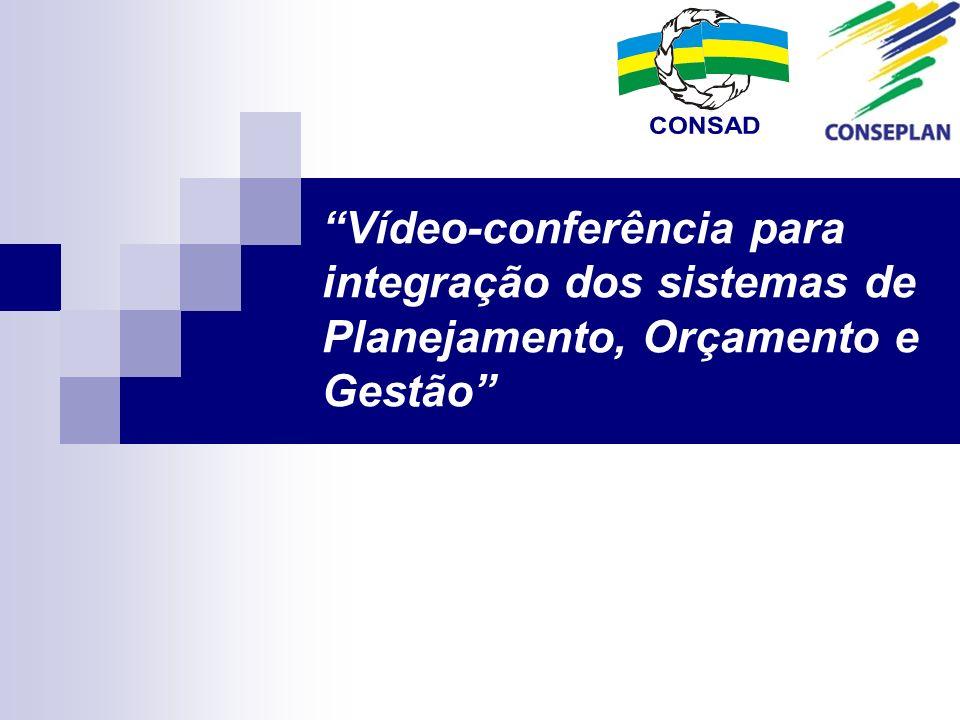 Vídeo-conferência para integração dos sistemas de Planejamento, Orçamento e Gestão