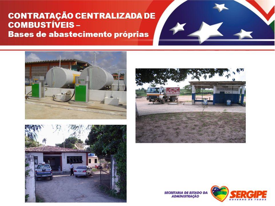CONTRATAÇÃO CENTRALIZADA DE COMBUSTÍVEIS – Bases de abastecimento próprias