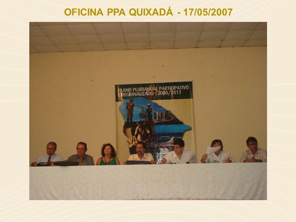 OFICINA PPA QUIXADÁ - 17/05/2007
