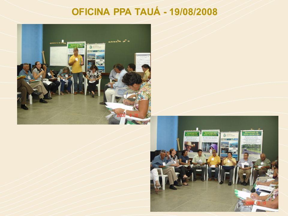 OFICINA PPA TAUÁ - 19/08/2008