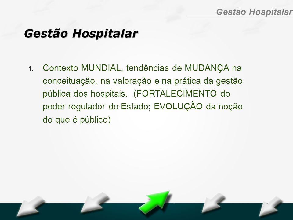 Hospital Geral Dr. Waldemar Alcântara Gestão Hospitalar 1. Contexto MUNDIAL, tendências de MUDANÇA na conceituação, na valoração e na prática da gestã