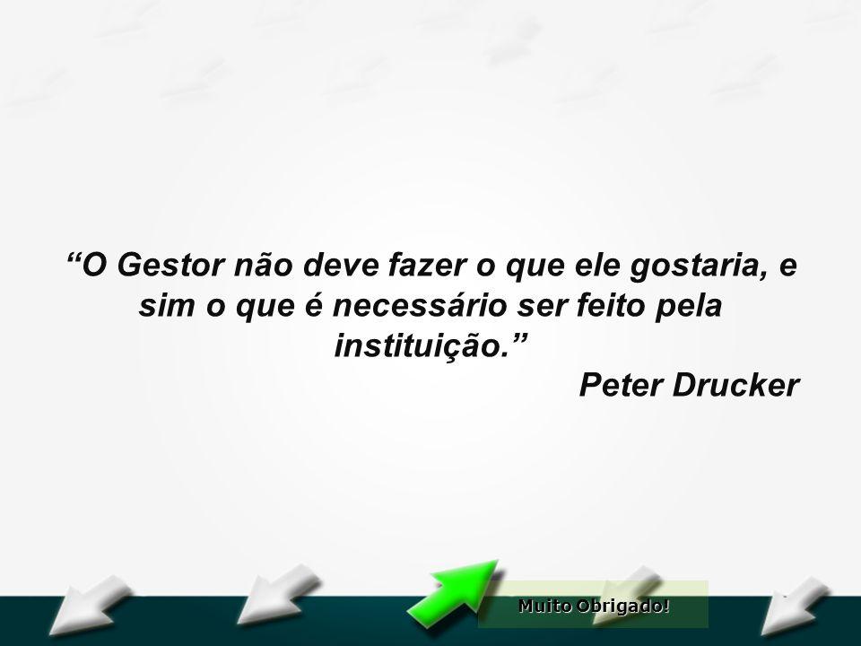 Hospital Geral Dr. Waldemar Alcântara O Gestor não deve fazer o que ele gostaria, e sim o que é necessário ser feito pela instituição. Peter Drucker M