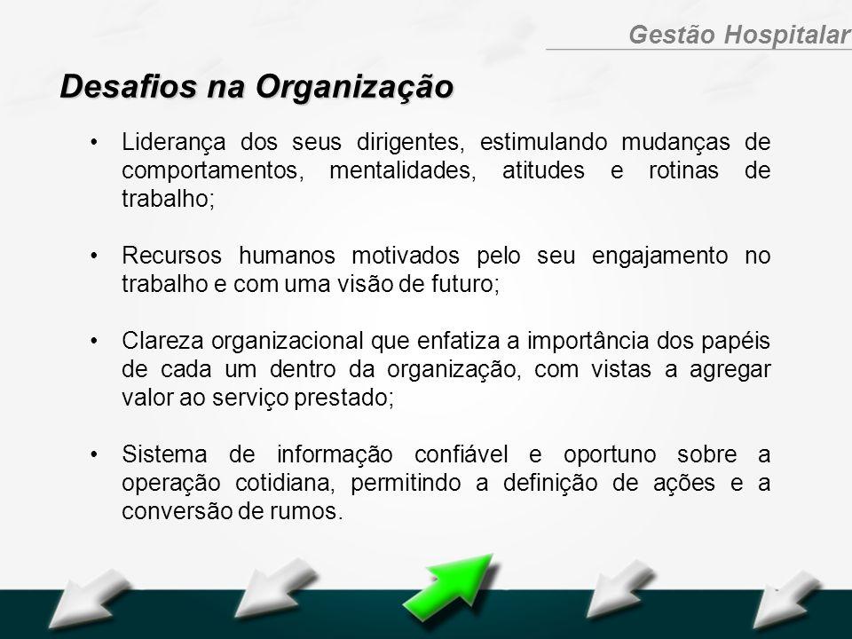 Hospital Geral Dr. Waldemar Alcântara Gestão Hospitalar Liderança dos seus dirigentes, estimulando mudanças de comportamentos, mentalidades, atitudes