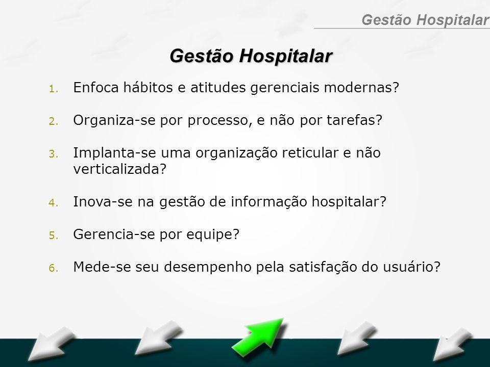 Hospital Geral Dr. Waldemar Alcântara Gestão Hospitalar 1. Enfoca hábitos e atitudes gerenciais modernas? 2. Organiza-se por processo, e não por taref