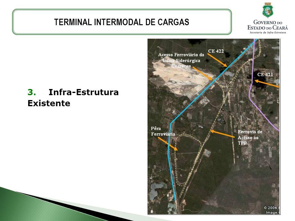 3. Infra-Estrutura Existente TERMINAL INTERMODAL DE CARGAS
