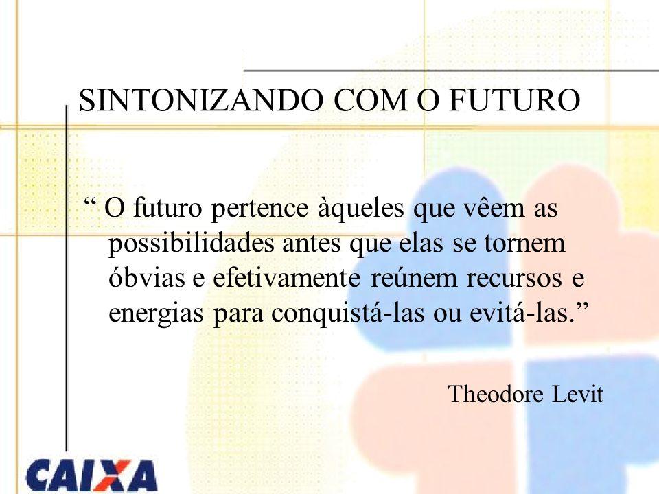 SINTONIZANDO COM O FUTURO O futuro pertence àqueles que vêem as possibilidades antes que elas se tornem óbvias e efetivamente reúnem recursos e energias para conquistá-las ou evitá-las.