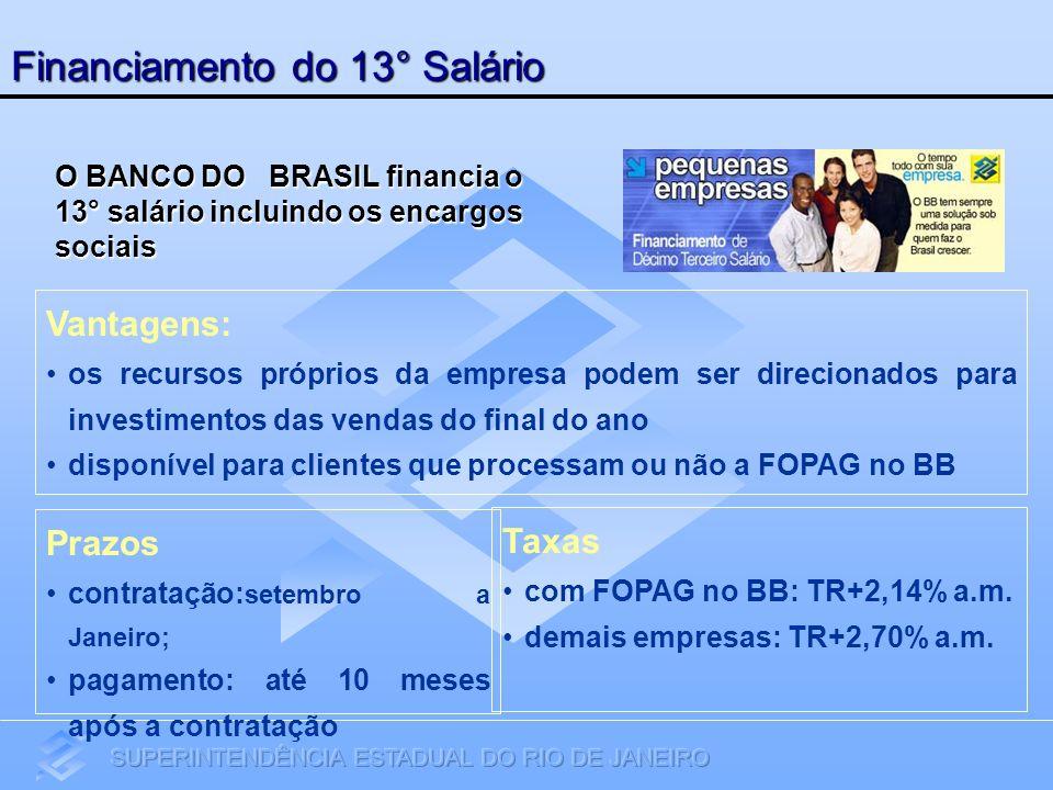 Financiamento do 13° Salário Vantagens: os recursos próprios da empresa podem ser direcionados para investimentos das vendas do final do ano disponíve