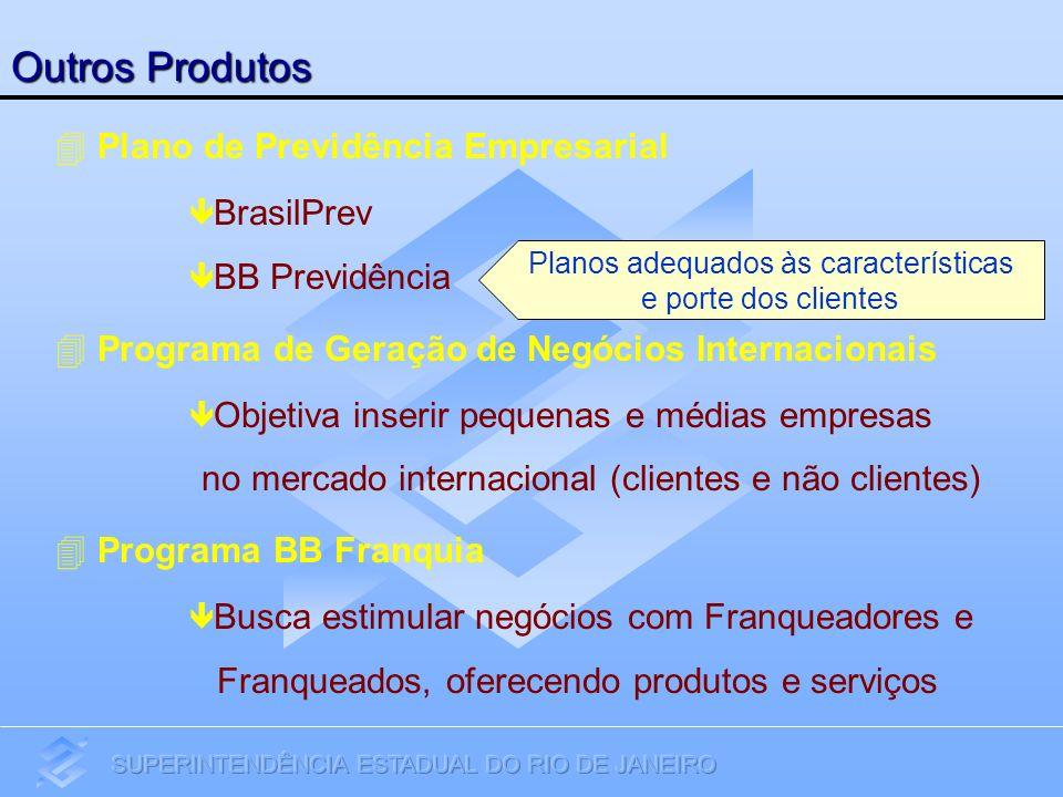 Plano de Previdência Empresarial BrasilPrev BB Previdência Programa de Geração de Negócios Internacionais Objetiva inserir pequenas e médias empresas