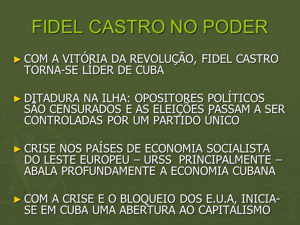 FIDEL CASTRO NO PODER COM A VITÓRIA DA REVOLUÇÃO, FIDEL CASTRO TORNA-SE LÍDER DE CUBA COM A VITÓRIA DA REVOLUÇÃO, FIDEL CASTRO TORNA-SE LÍDER DE CUBA