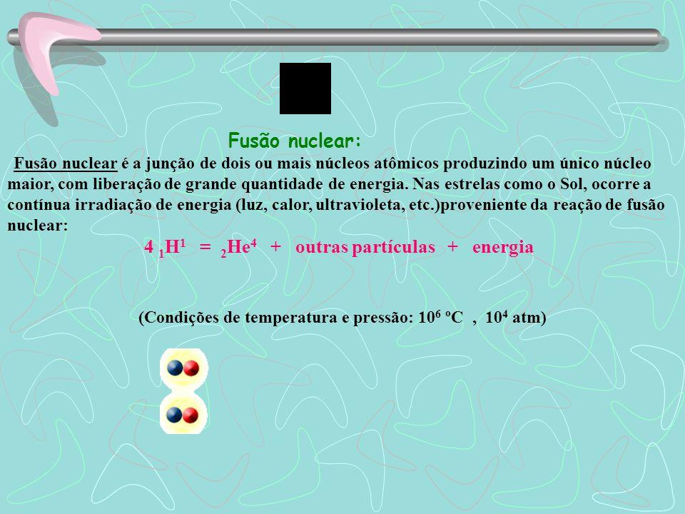 Fissão nuclear Fissão nuclear é a divisão de um núcleo atômico pesado e instável através do seu bombardeamento com nêutrons - obtendo dois núcleos men