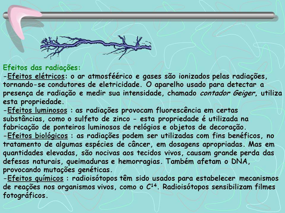 Usos das reações nucleares: -Produção de energia elétrica: oss reatores nucleares produzem energia elétrica, para a humanidade, que cada vez depende m