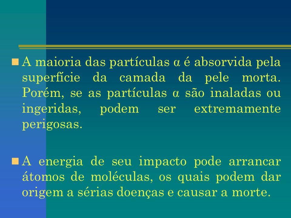 A radiação β é a segunda em poder de penetração.