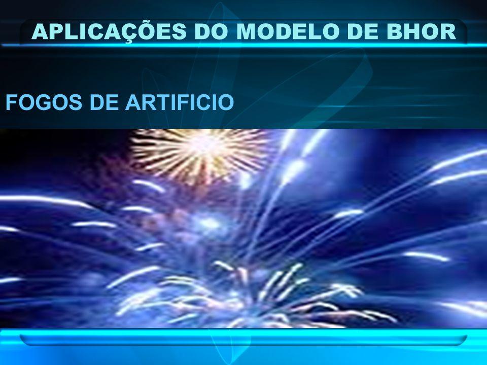 APLICAÇÕES DO MODELO DE BHOR FOGOS DE ARTIFICIO