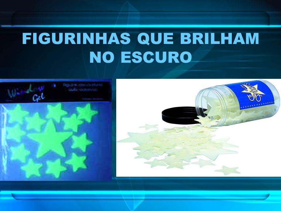 FIGURINHAS QUE BRILHAM NO ESCURO
