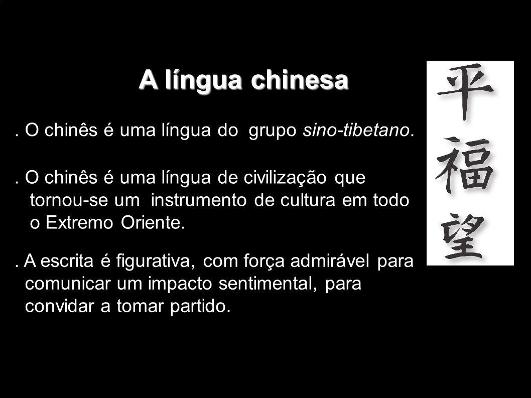 Méritos da escrita chinesa Méritos da escrita chinesa.