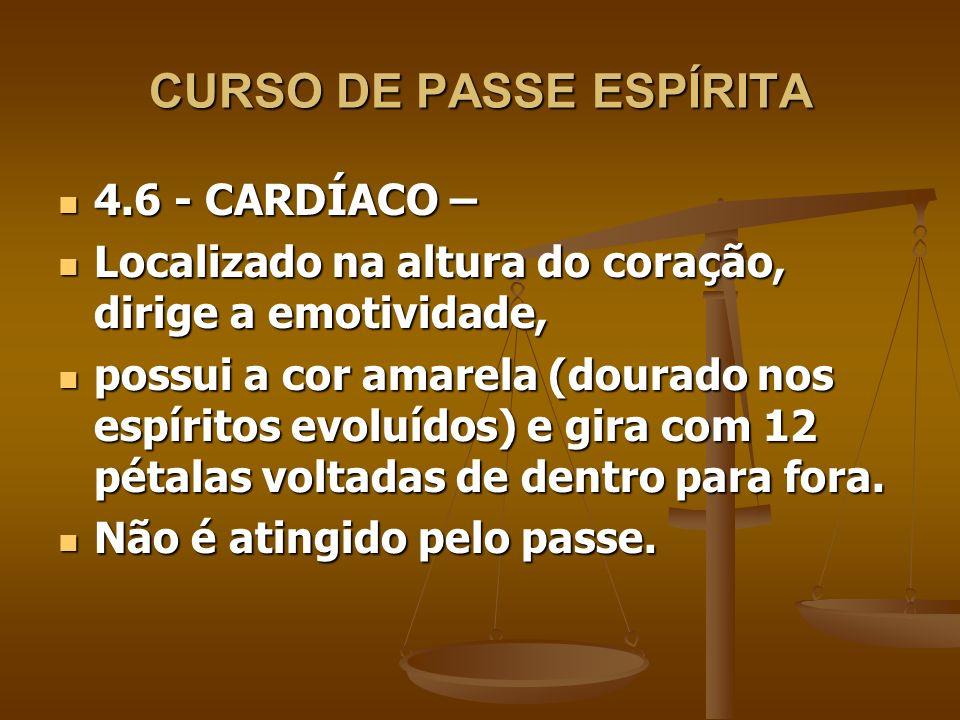 CURSO DE PASSE ESPÍRITA 4.6 - CARDÍACO – 4.6 - CARDÍACO – Localizado na altura do coração, dirige a emotividade, Localizado na altura do coração, diri