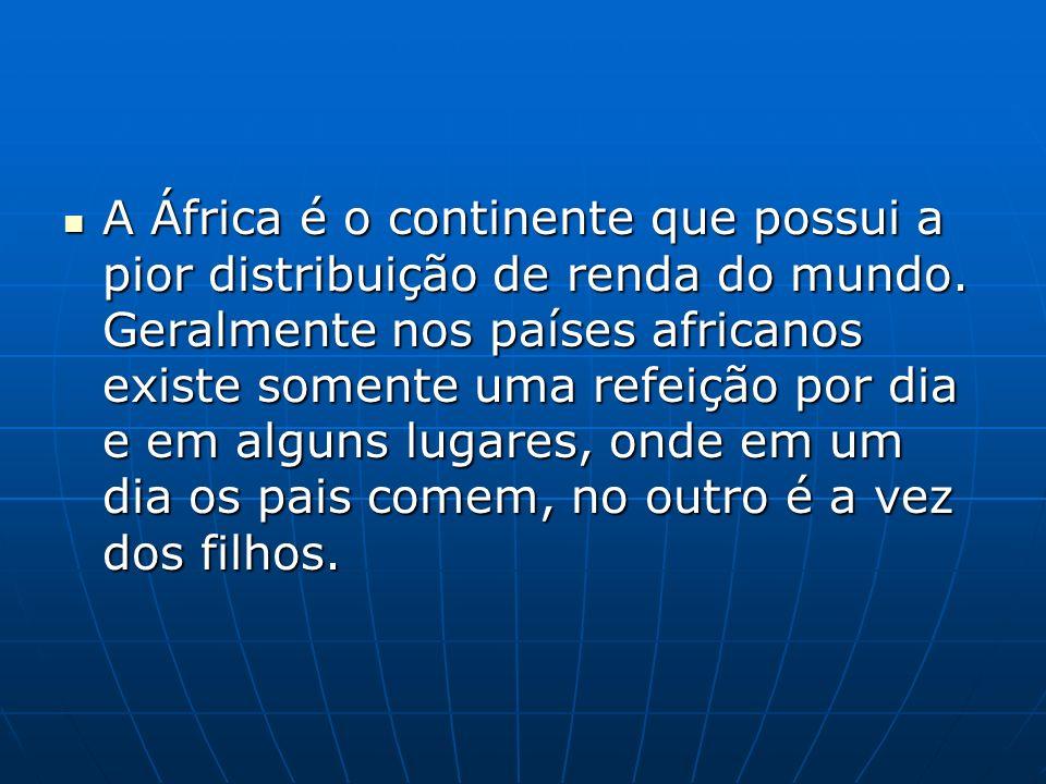 Economia da África A África é o continente mais pobre do mundo.