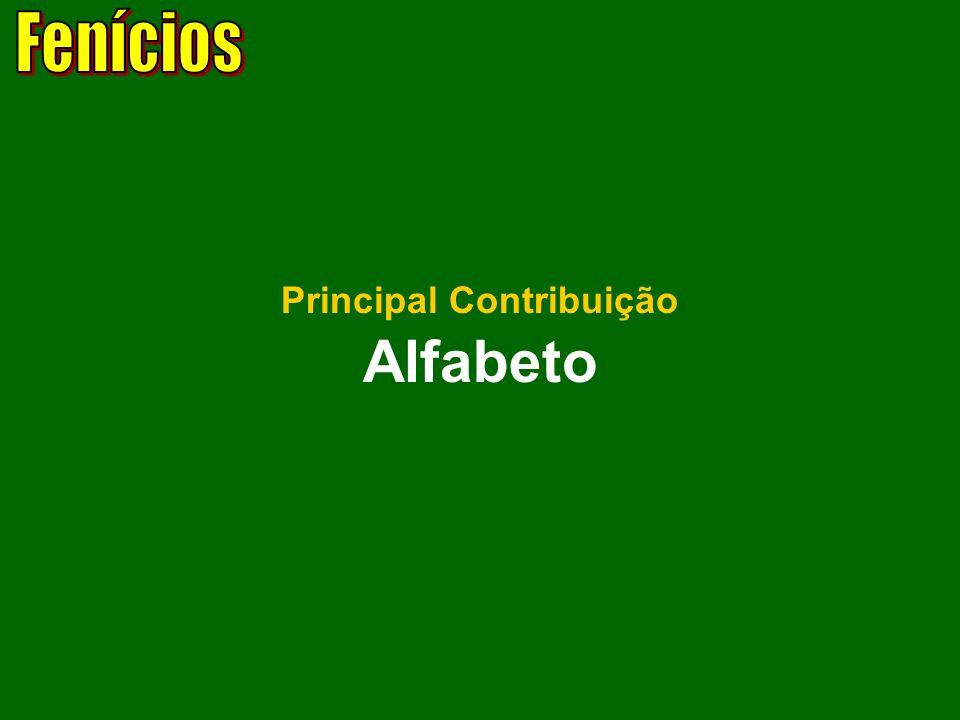 Alfabeto Principal Contribuição