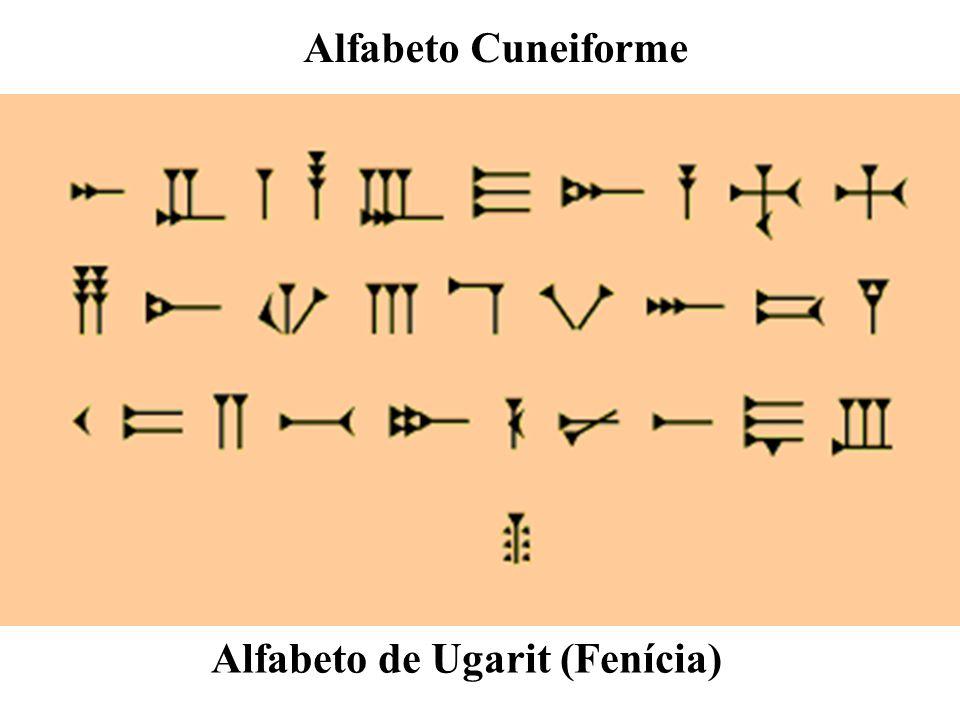 Alfabeto de Ugarit (Fenícia) Alfabeto Cuneiforme