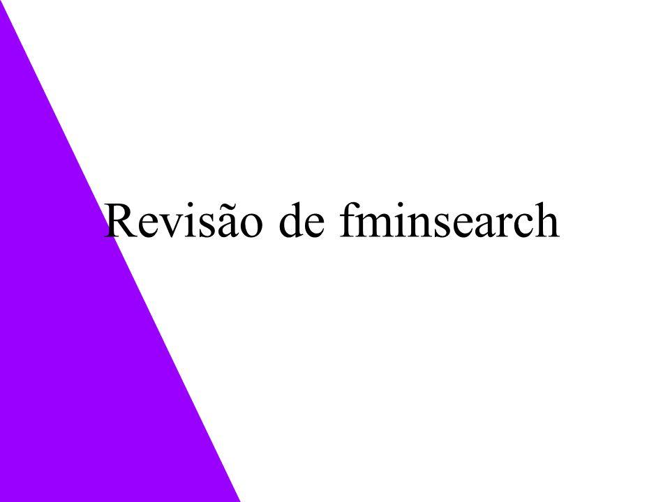 Revisão de fminsearch