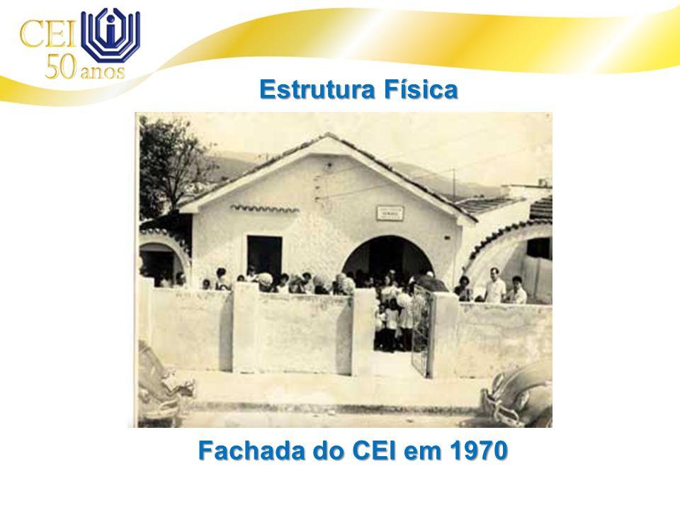 Fachada do CEI em 1970 Estrutura Física
