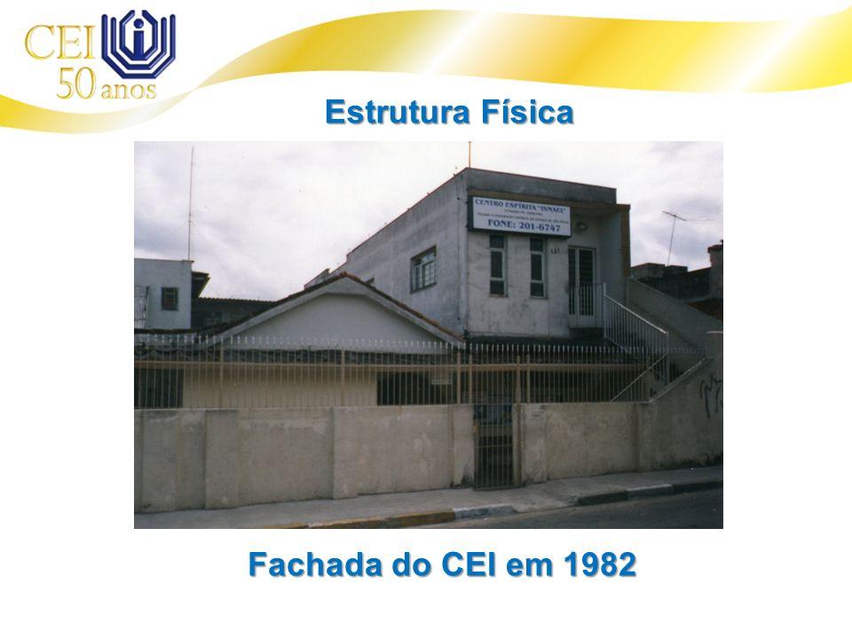Fachada do CEI em 1982 Estrutura Física