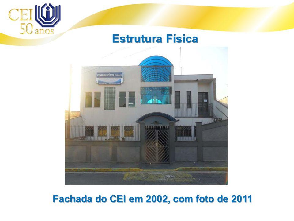 Fachada do CEI em 2002, com foto de 2011 Estrutura Física