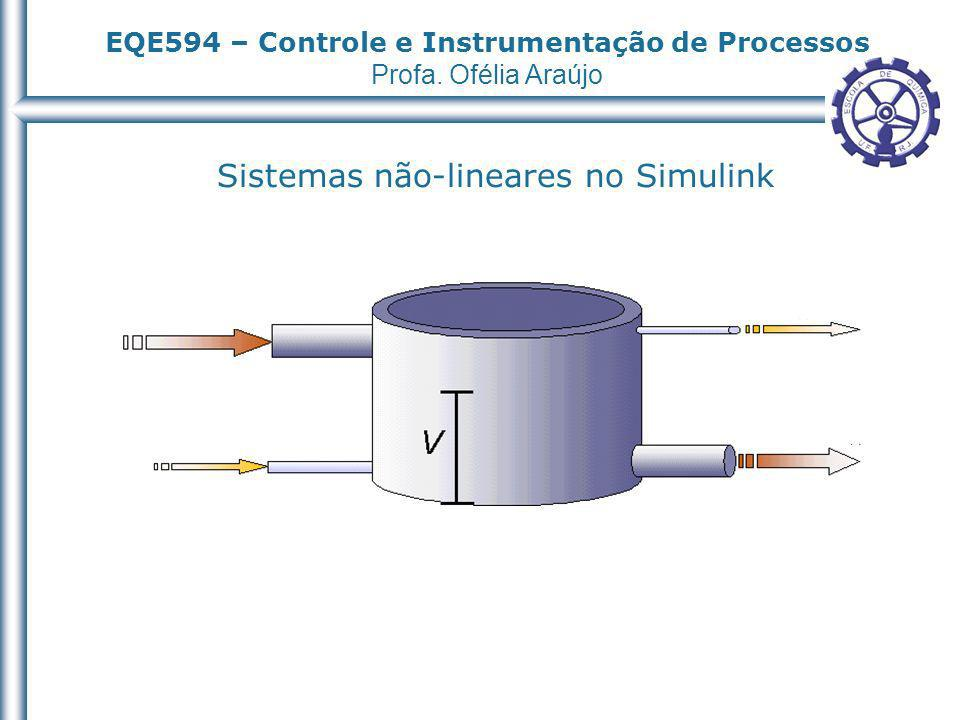 EQE594 – Controle e Instrumentação de Processos Profa. Ofélia Araújo Sistemas não-lineares no Simulink