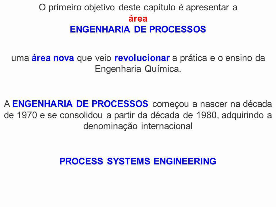 O primeiro objetivo deste capítulo é apresentar a área ENGENHARIA DE PROCESSOS uma área nova que veio revolucionar a prática e o ensino da Engenharia